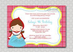 Little Red Riding Hood Birthday Invitation  by SwishPrintables, $15.00