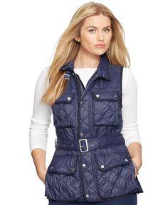 Lauren Ralph Lauren Plus Size Quilted Nylon Vest