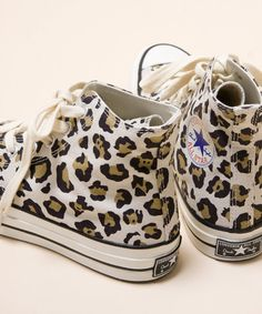 Converse Addict All Star Hi Leopard & All Star Low Sneakers @}-,-;--