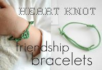 hart + sew | Vintage Baby Clothing: heart knot friendship bracelet valentines