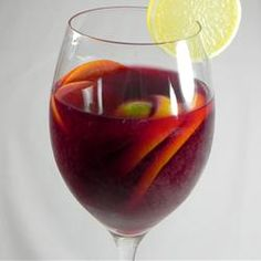 Classic Spanish Sangria - made a double batch of this to take camping and it was a hit. I included fresh local strawberries and hand-picked cherries.