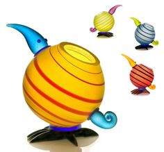 www.codagallery.com | Kiwi Bowl by Borowski | Glass #whimsical #adorable #glasssculpture