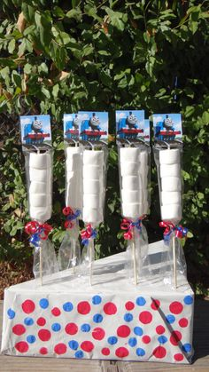 Thomas the Train Marshmallows Party Favors by FantastikCreations