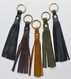 Leather Tassel Key Chain