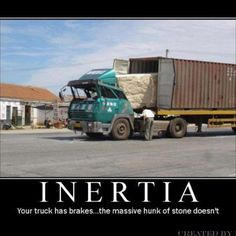 Funny pictures about Inertia. Oh, and cool pics about Inertia. Also, Inertia photos. Science Classroom, Teaching Science, Science Education, Physics Jokes, Science Memes, Funny Science, Cool Science, Physics Problems, 8th Grade Science