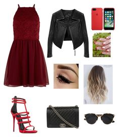 """""""🍷"""" by catrinel-grigorescu on Polyvore featuring New Look, Giuseppe Zanotti, F, Chanel and Christian Dior"""
