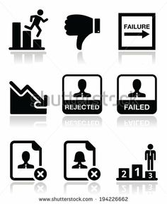Failure, rejected man icons set by RedKoala