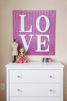 DIY Purple Room Decor - DIY Wooden LOVE Sign - Best Bedroom Ideas and Projects in Purple - Cool Accessories, Crafts, Wall Art, Lamps, Rugs, Pillows for Adults, Teen and Girls Room http://diyprojectsforteens.com/diy-room-decor-purple