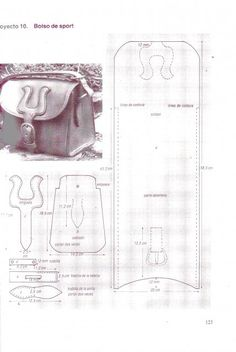 leather satchel pattern