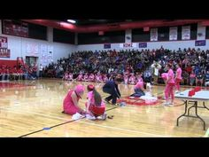 Pink Pep Rally Minute to Win It Competition - YouTube