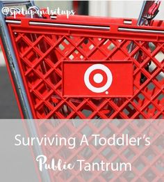 Surviving A Toddler's Public Tantrum - Spit Up and Sit Ups   I found myself doing everything wrong in the middle of one of my toddler's biggest public tantrums. I was by myself and just kept giving in.  I was inconsistent in handling my child's tantrum.