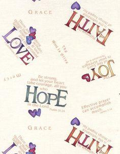 Faith, hope, love and JOY