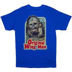 """Big & Tall Star Wars Chewbacca """"Original Wing Man"""" Tee, Men's, Size: Xl Tall, Brt Blue"""