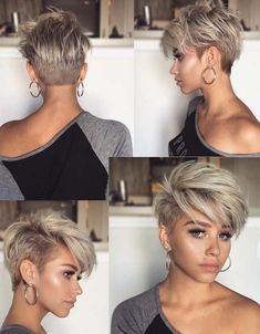 Melhores cortes de cabelo Pixie Undercut para cabelos curtos em 2018 - The 100 best photographs ever taken without photoshop Cabelo Pixie Undercut, Undercut Pixie Haircut, Short Pixie Haircuts, Short Hairstyles For Women, Haircut Short, Hairstyles 2018, Short Bangs, Blonde Pixie Haircut, Short Undercut Hairstyles