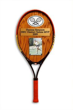 3D Tennis Plaques by 3dmemoryplaques on Etsy, $50.00