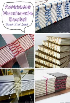 Awesome Handmade Books - French Link Stitch Bookbinding Examples by Ruth Bleakley on her blog