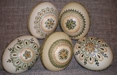 wax painted Easter (ostrich) eggs-margutis (Lithuania)