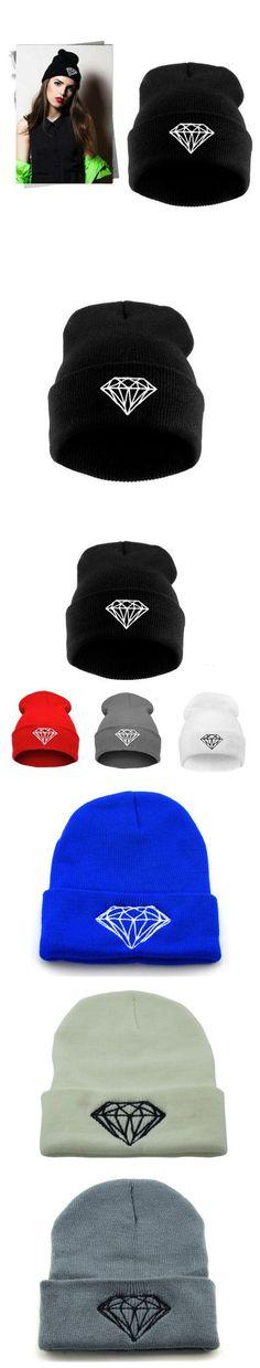 Mode Hip Hop Mützen für Männer Winter Hüte für Frauen Gestrickte Diamant Kappe Skullies Mützen Gorro $3.6