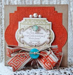 This card uses a new set by @JustRite Stampers called Sea Shell Bay and a coordinating @Spellbinders die, Labels Twenty-Two. Card designed by @Michele Kovack
