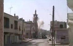 """مسئول سورى يتهم جبهة النصرة بتفجير مئذنة الجامع العمرى بـ""""درعا"""""""