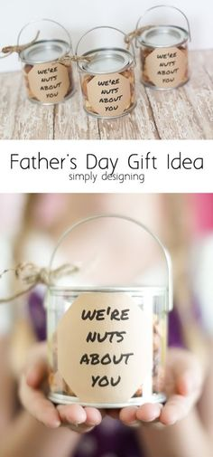Nuts About You Fathers Day Gift Idea - this is such a fun and simple idea that nearly any dad will love