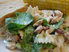 Chicken poppy seed pasta salad.
