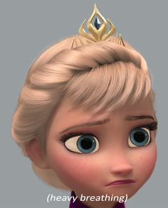 (heavy breathing) Elsa by TeleVue on DeviantArt Frozen Memes, Frozen Pics, Frozen Stuff, Disney Queens, Pitch Dark, Heavy Breathing, Best Disney Movies, Disney Frozen Elsa, Queen Elsa