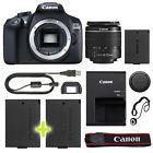Canon EOS 1300D / T6 Digital SLR Camera with 18-55mm Lens  Backup Power Kit