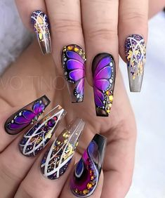 If you're looking to do seasonal nail art, spring is a great time to do so. The springtime is all about color, which means bright colors and pastels are becoming popular again for nail art. These types of colors allow you to create gorgeous nail art. Beautiful Nail Art, Gorgeous Nails, Pretty Nails, Cute Acrylic Nails, Acrylic Nail Designs, Nail Art Designs, Crazy Nail Designs, Nails Design, Crazy Nails