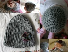 Knit Look Crochet Stretchy Hat - bethsco - pattern