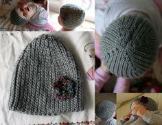 Knit Look Crochet Stretchy Hat - bethsco - pattern
