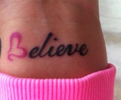 Have wanted my 'believe' tattoo for over a year now, have wanted it in arabic ever since I went to Eygpt last year, but this is verrry cute too x