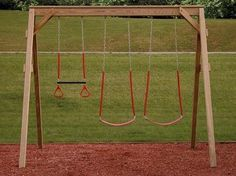 small swing sets | wooden swing set is something kids never seem to outgrow. It has got ...
