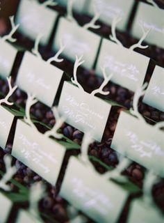 antler escort cards|calder clark ©|tec petaja|old edwards inn