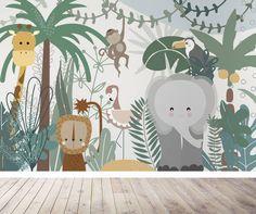 Safari Jungle Children's Wallpaper Mural