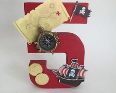 Pirate number, pirate birthday, pirate name, pirate party, Jake Neverland, pirate decorations, pirate party decor