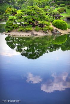 Japanese Garden in the Sky by WindyLife  Okayama, Japan
