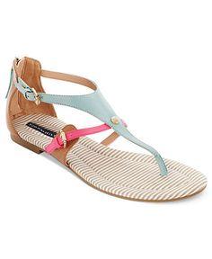 Tommy Hilfiger Shoes, Baran Flat Thong Sandals - Sandals - Shoes - Macy's