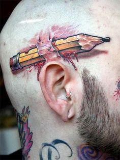 pencil tattoo - Cerca amb Google