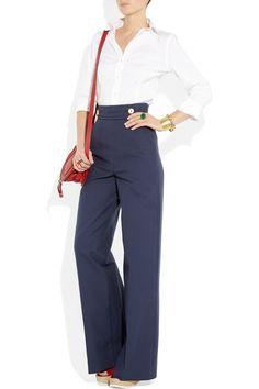 So Katherine Hepburn! Yves Saint Laurent - High-rise wide-leg pants