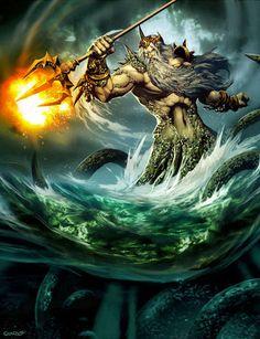 Deus : Poseidon - Trabalho de Filosofia 》Feira da Mitologia Grega.