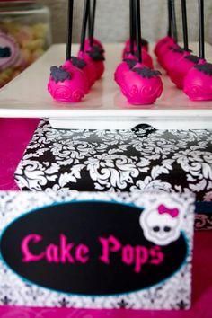 Cake pops monster high