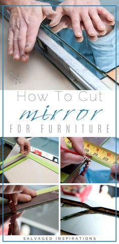 How To Cut Mirror For DIY Mirrored Furniture How To Cut Mirror For DIY Mirrored Furniture beth harris elizabethanneba Home How To Cut Mirror For Furniture Beautiful nbsp hellip makeover mirror How To Cut Mirror, Furniture Makeover, Furniture Decor, Glam Mirror, Mirror Mirror, Mirrored Bedroom Furniture, Furniture Vanity, Old Mirrors, Vintage Mirrors