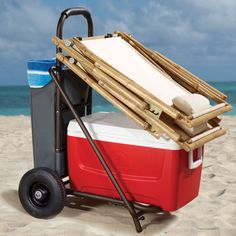 all-terrain water cooler cart - really, really, want one of these. Perfect for the beach!
