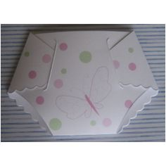 Butterfly Baby Shower Diaper Invitations