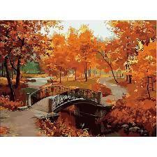 Risultati immagini per dipinti paesaggi autunnali