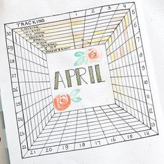 APRIL TRACKER // Added Some details and color to my tracker. Inspired by @tinyrayofsunshine