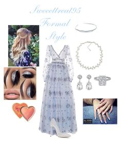 Formal Wear. by sweeettreat95 on Polyvore featuring polyvore fashion style LUISA BECCARIA Casadei Carolee Kenneth Jay Lane Bling Jewelry clothing