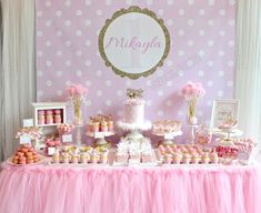 Celebrate with Cake!: Polka Dot Themed dessert table (Click on Post for ...