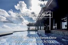 "Take the last chance to win 15-day #FreeTrip to #SanyaRepin #SanyaHeartstoHearts #Sanya, #China, and even $30,000! Join #SanyaHearts toHearts NOW with the 2 simple steps! 1. Comment ""I want to join #SanyaHeartstoHearts"" or leave any comment below to enroll and be lucky for a #gift. 2. Two clicks to issue your invitation post https://app.gotrips.net/#goto2 and compete for the final big prize. #SanyaH2HRecruitment #Whererefreshingbegins #360Sanya"